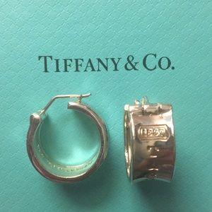 Tiffany and co 1837 sterling silver hoop earrings